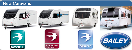 New Caravans by Swift Sterling Sprite and Bailey