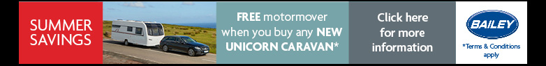 Free Caravan Mover when you buy a new Bailey Unicorn from stock
